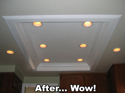 After 1 Day Kitchen Lights... Wow!