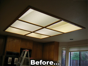 Before 1 Day Kitchen Lights...